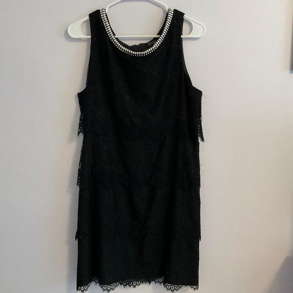 Lace Black Mini-Dress
